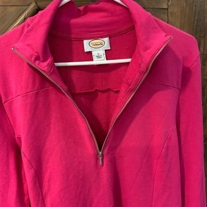 Talbots Pink Henley pullover